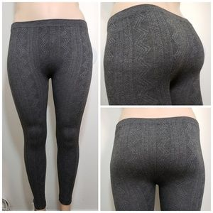 One Step Up Gray Leggings Large XL